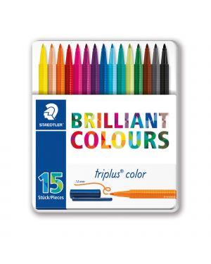 Triplus pennarelli brilliant colours punta 1mm astuccio da 15 colori staedtler 323M15 4007817337127 323M15-1