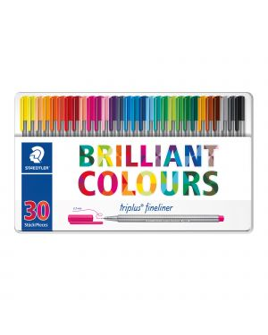 Triplus fineliner brilliant colours punta 0.3mm astuccio da 30 colori staedtler 334M30 4007817337042 334M30-1