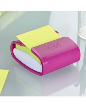 Dispenser pro fucsia +1 post-it®super sticky z-notes verde asparago 76x76mm 16475  16475-1