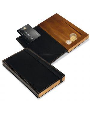 Porta conto in legno e similpelle securit MC-DBBP-BL 8719075283219 MC-DBBP-BL
