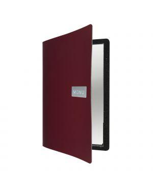 Porta menu' a4-24x33cm bordeaux royal con 1 inserto doppio MC-LR-A4-RORD 8719075284056 MC-LR-A4-RORD