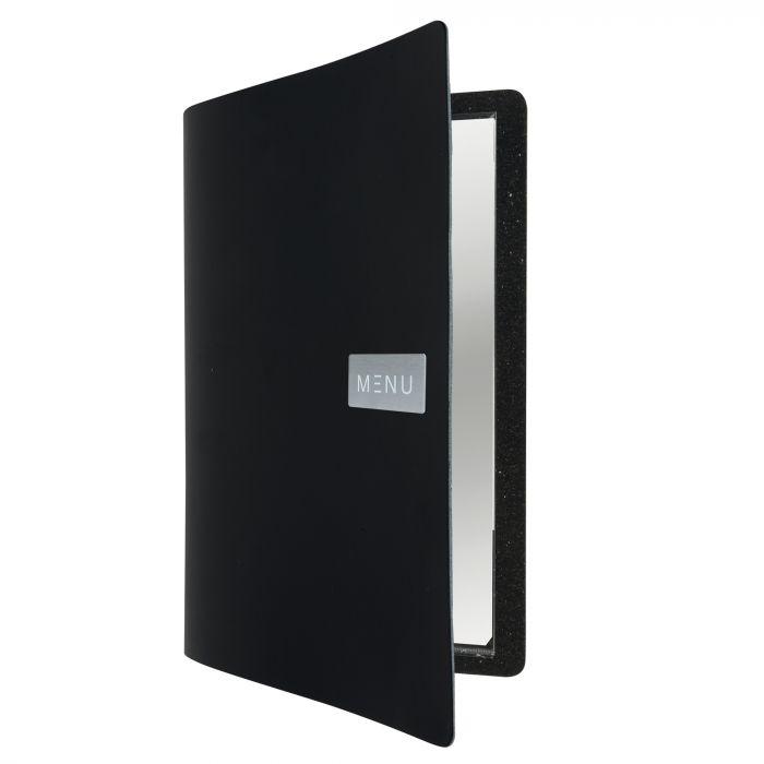 Porta menu' a4-24x33cm nero royal con 1 inserto doppio MC-LR-A4-ROBL 8719075284049 MC-LR-A4-ROBL by Securit