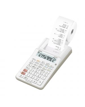 Calcolatrice scrivente 12 cifre hr-8rce bianco casio HR8RCE-WE-W-EC  HR8RCE-WE-W-EC
