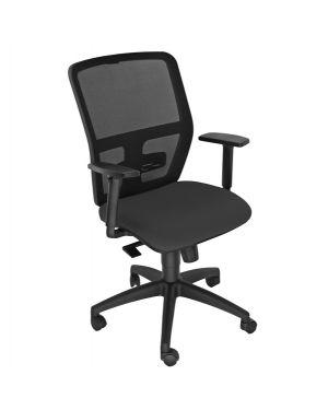Seduta operativa ergonomica kemper a nero c - bracc.reg KMA/BR2D/EN 8050043748249 KMA/BR2D/EN by Unisit