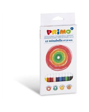 Astuccio 12 matite colorate diam. 3,8mm minabella primo 522MINAB12  522MINAB12