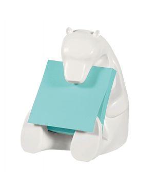 Dispenser orso+ricarica post-it®super sticky z-notes 76x76mm azzurro acquamarin 7100137125  7100137125