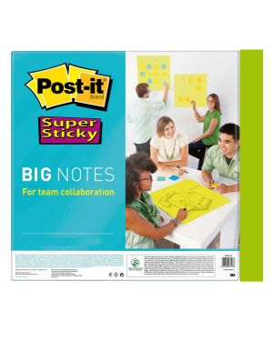 Blocco 30 fogli post-it®super sticky 558x558mm big notes verde neon bn22-eu 28650  28650-1