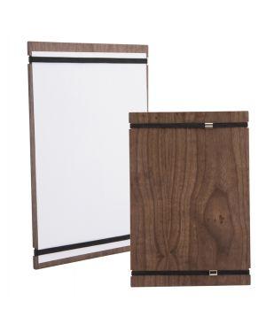 Porta menu' tablet in legno con elastici 32x22cm securit MC-WALA4-RB 8719075285336 MC-WALA4-RB