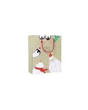 Shopper regalo happy christmas 23x30x10cm kartos 10726500  10726500