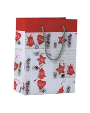 Shopper regalo shabby chic christmas 23x30x10cm kartos 10726600 84471 A 10726600