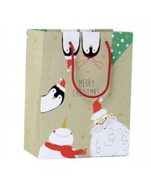 Shopper regalo happy christmas 30x36x12cm kartos 10736500  10736500