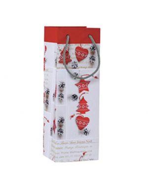 Shopper regalo shabby chic christmas 12x35x10cm kartos 10746600  10746600