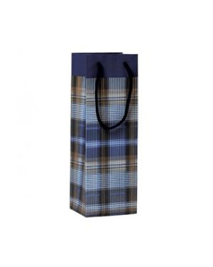Shopper regalo scozzese blu 12x35x10cm kartos 10746700  10746700