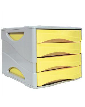 Cassettiera keep colour pastel giallo arda 15P4PPASG 8003438022967 15P4PPASG
