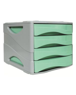 Cassettiera keep colour pastel verde arda 15P4PPASV  15P4PPASV by Arda