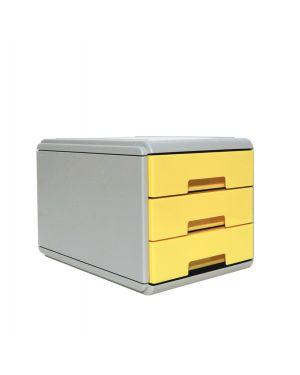 Mini cassettiera keep colour pastel giallo arda 19P3PPASG 8003438022875 19P3PPASG by Arda