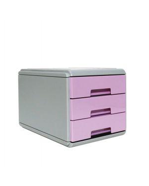 Mini cassettiera keep colour pastel lilla arda 19P3PPASVI 8003438022882 19P3PPASVI by Arda