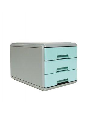 Mini cassettiera keep colour pastel azzurro arda 19P3PPASBL 8003438022851 19P3PPASBL by Arda