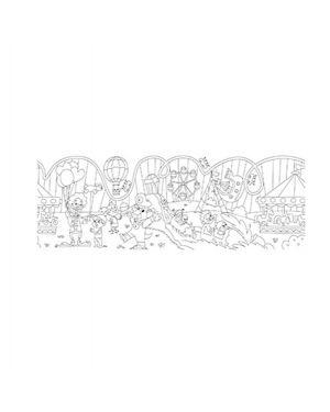 Rotolo creativo adesivo tema parco di divertimento 30x400cm info Q872808  Q872808