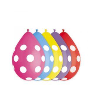 Busta 10 palloncini in lattice Ø30cm fantasia pois big party 72528 8020834725285 72528 by No