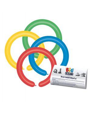Busta 25 palloncini modellabili in lattice Ø5cm colori assortiti big party 72038 8020834720389 72038 by No