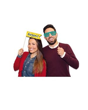 Photo booth buon compleanno 8 fantasie big party 81462 8020834814620 81462