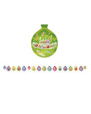 Festone in cartoncino 25cmx6mt buon compleanno baloons big party 61704 8020834617047 61704