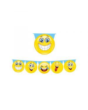 Festone sagomato emoticons lungh. 6mt big party 60684 8020834606843 60684
