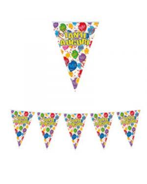 Festone bandiere tanti auguri lungh.6mt big party 60376 8020834603767 60376