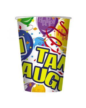 10 bicchieri happy balloons cc 200 big party 61222 8020834612226 61222