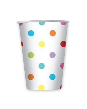 8 bicchieri pois multicolor cc 200 big party 61684 8020834616842 61684