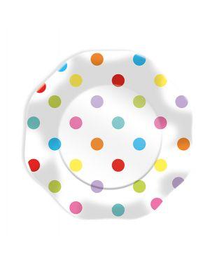 10 piatti pois multicolor Ø18cm big party 61683 8020834616835 61683