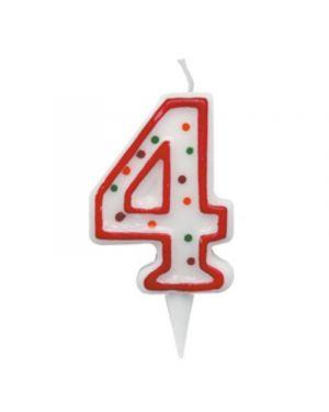 Candelina zuccherino numero 4 - h. 8.5cm big party CC06034 8020834060348 CC06034