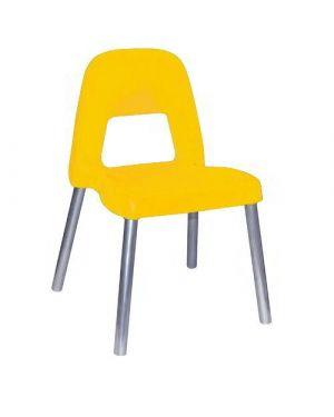 Sedia per bambini piuma h35cm giallo cwr 09387/02 85994 A 09387/02