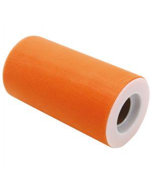 Tulle in rotolo 12,5cmx25mt arancione big party 85043 8020834850437 85043