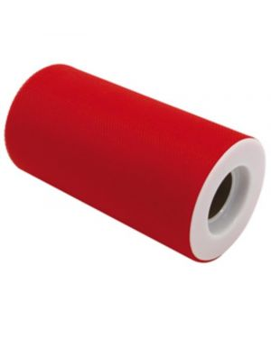 Tulle in rotolo 12,5cmx25mt rosso big party 85050 8020834850505 85050