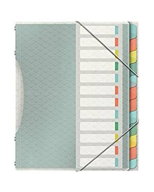 Libro monitore con 12 divisori multicolore colour'ice esselte 626256 4049793053103 626256 by Esselte