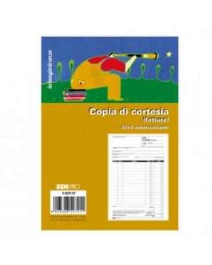 Blocco copia di cortesia (fatt.elett.) 33x3 autocop. 22x14,8cm e5272ct edipro E5272CT 8023328527211 E5272CT