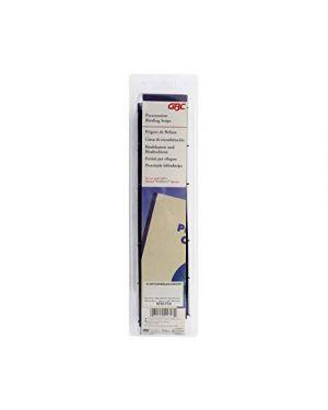 Scatola 100 pettini 4 denti desktop velobind 25mm - blu - gbc A9741040 80509410401 A9741040