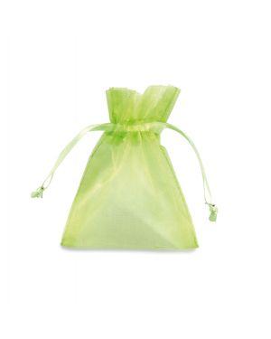 20 sacchetti organza milly 12,5x17cm verde mela UL550DLL03VVM 8013170304818 UL550DLL03VVM