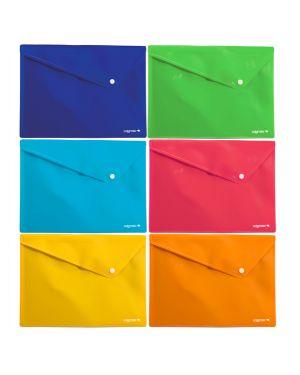6 buste c - bottone in ppl colorosa 33x24.5cm colori assortiti riplast 361908 8004428042422 361908 by Ri.plast