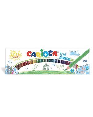 Scatola 50 pastelli tita rainbow colori assortiti carioca 42990  42990