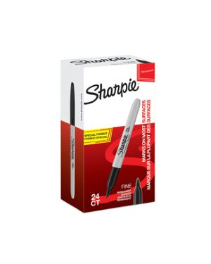 Value pack 20+4 marcatore sharpie nero permanente punta fine 2077128 3026980771287 2077128