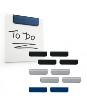 Pack 10 clip adesiva durafix clip 60mm colori assortiti durable 4709-00 4005546992181 4709-00 by Durable