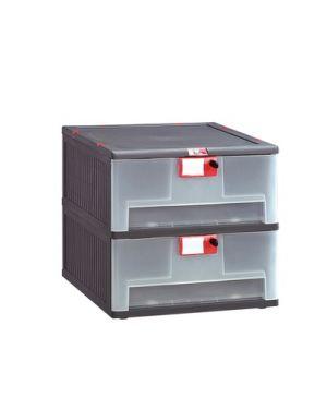 Cassettiera in pp 2 cassetti mopla 102 MOP102.GR 8000919002807 MOP102.GR