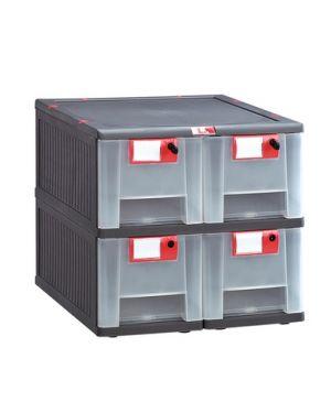 Cassettiera in pp 4 cassetti mopla 104 MOP104.GR 8000919002821 MOP104.GR