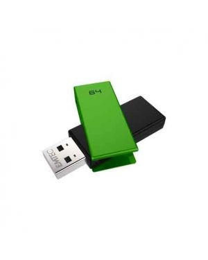 Memoria usb 2.0 c350 64gb verde ECMMD64GC352 3126170159823 ECMMD64GC352