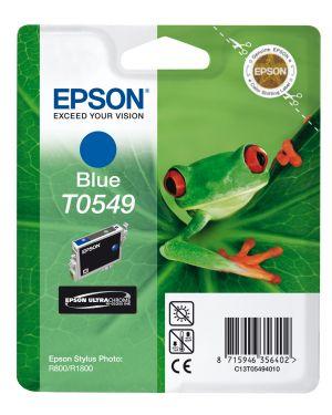 Cartuccia hi-gloss blu stylus photo r800 r1800 blister con rs C13T05494010 8715946356402 C13T05494010