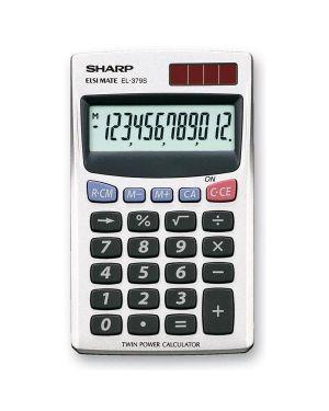 Calcolatrice el 379sb 12 cifre tascabile sharp EL379SB 4974019023212 EL379SB