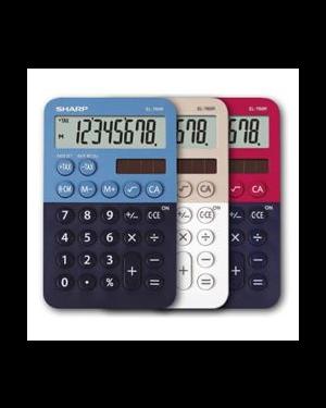 Calcolatrice tascabile el 760r, 8 cifre, 2 colori design, azzurro - blu EL760RBBL 4974019960814 EL760RBBL by Sharp